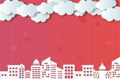 Nubes y ciudades del vector ilustración del vector