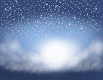 Nubes y estrellas Fotografía de archivo libre de regalías