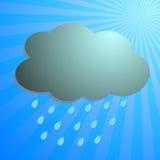 Nubes y gota de lluvia con los rayos azules libre illustration