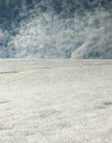Nubes y nieve Foto de archivo libre de regalías