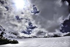 Nubes y nieve Fotos de archivo libres de regalías