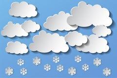 Nubes y nieve del vector por la tarde EPS 10 stock de ilustración