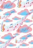 Nubes y notas libre illustration