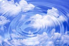 Nubes y ondas de agua Fotos de archivo libres de regalías