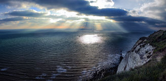 Nubes y panorama del mar Imágenes de archivo libres de regalías