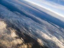 Nubi a 35.000 piedi Fotografia Stock Libera da Diritti