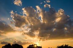 Nubi al tramonto Fotografia Stock Libera da Diritti