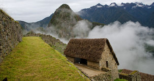 Nubi all'entrata a Machu Picchu Immagini Stock Libere da Diritti