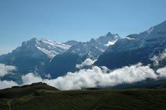 Nubi alpine Fotografia Stock