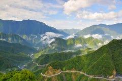 Nubi alpine Fotografia Stock Libera da Diritti