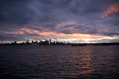 Nubi arrabbiate sopra Vancouver del centro Fotografie Stock Libere da Diritti