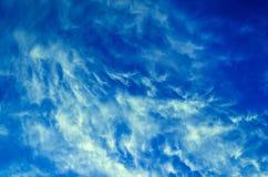Nubi bianche Fotografia Stock