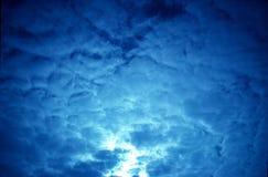 Nubi blu Fotografia Stock