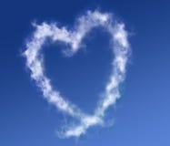 Nubi che formano un cuore Fotografia Stock
