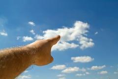 Nubi che formano una più grande nube nel cielo Fotografia Stock Libera da Diritti
