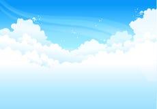 Nubi in cielo blu royalty illustrazione gratis