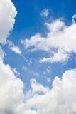 Nubi con cielo blu Fotografia Stock