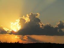Nubi d'ardore fotografia stock
