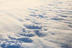 Nubi da sopra immagini stock