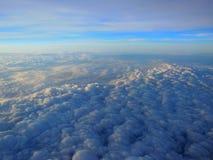 Nubi da sopra Fotografie Stock