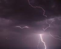 Nubi del cielo del bullone di lampo SS141 Fotografia Stock Libera da Diritti