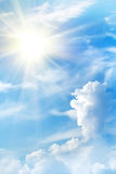 Nubi del cielo del sole di alba Fotografia Stock Libera da Diritti