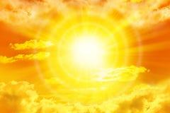 Nubi del cielo di Sun Immagine Stock Libera da Diritti