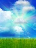 Nubi del cielo di Sun Fotografia Stock