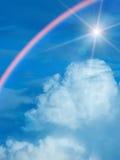 Nubi del cielo di Sun Immagine Stock