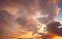 Nubi del cielo di tramonto Immagini Stock Libere da Diritti