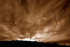 Nubi del fuoco Fotografia Stock Libera da Diritti