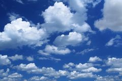 Nubi di cumulo voluminose Immagine Stock Libera da Diritti