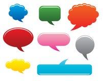 Nubi di dialogo. illustrazione di vettore Fotografia Stock