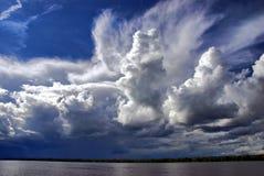 Nubi di estate Immagini Stock