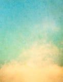 Nubi di Grunge Fotografie Stock