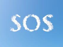 Nubi di SOS Immagini Stock Libere da Diritti