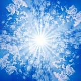 Nubi di Sun del cielo Immagine Stock Libera da Diritti