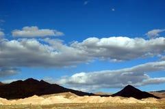 Nubi di tempesta del Death Valley Fotografie Stock