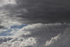 Nubi di tempesta della pioggia Fotografia Stock Libera da Diritti