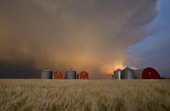 Nubi di tempesta di tramonto Canada Fotografie Stock Libere da Diritti