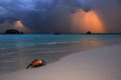 Nubi di tempesta sopra il mare Immagini Stock Libere da Diritti
