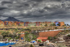 Nubi di tempesta sopra Tenerife Immagini Stock Libere da Diritti