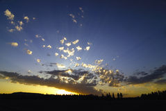 Nubi di tramonto Immagini Stock