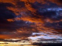 Nubi di tramonto Fotografie Stock Libere da Diritti