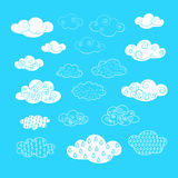 Nubi di vettore Fotografia Stock