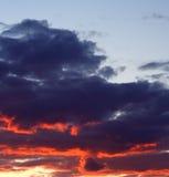 Nubi dopo la tempesta immagini stock