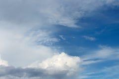 Nubi drammatiche del cielo Fotografia Stock