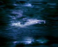 Nubi e lampo di tempesta Immagini Stock Libere da Diritti