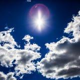 Nubi e luce solare Immagine Stock