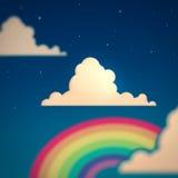 Nubi e Rainbow Immagine Stock Libera da Diritti